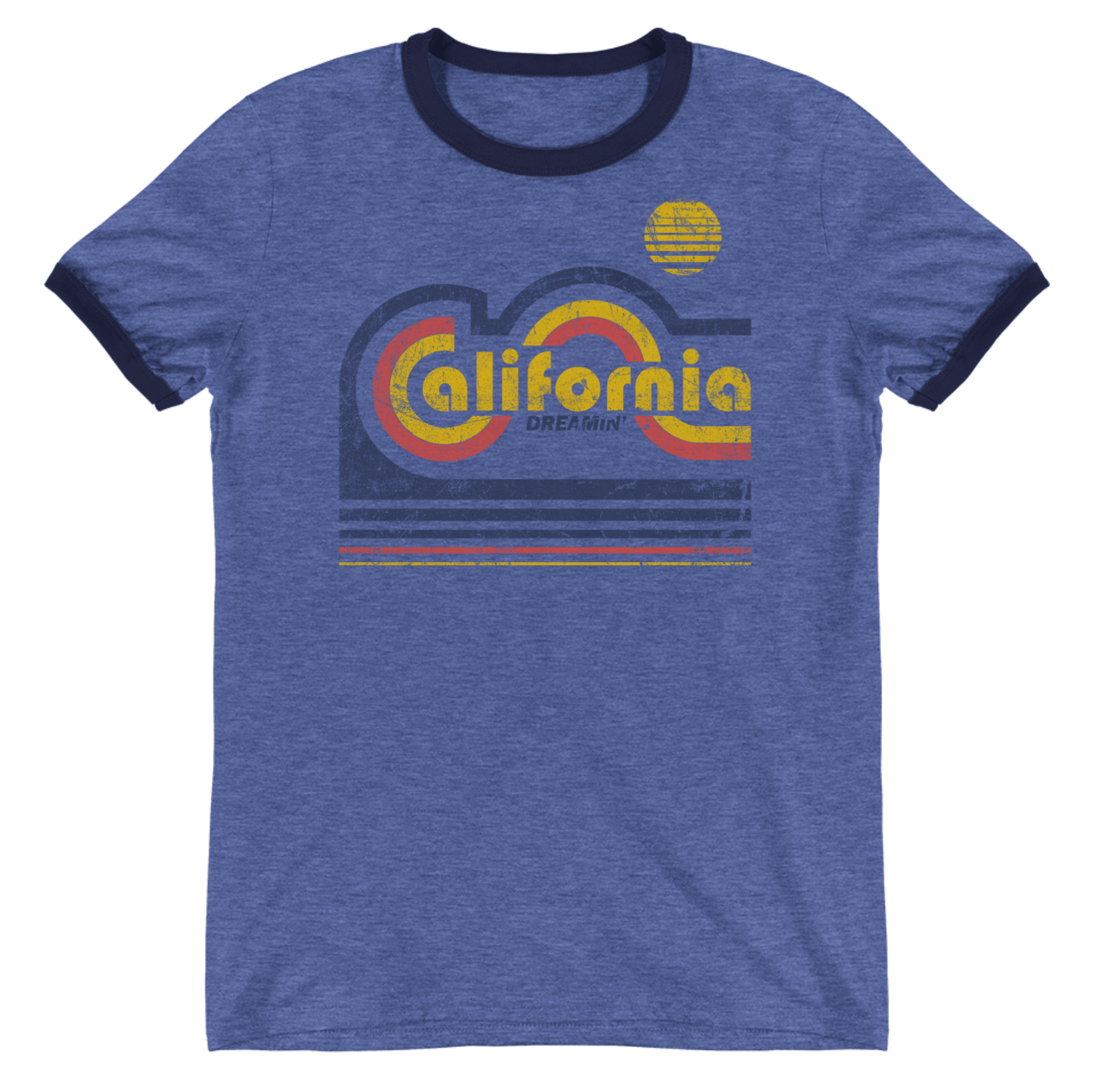 california t shirt for men retro style california dreamin. Black Bedroom Furniture Sets. Home Design Ideas