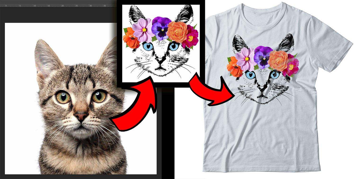 How to create t shirt design template tutorial turn for How to get into the t shirt printing business