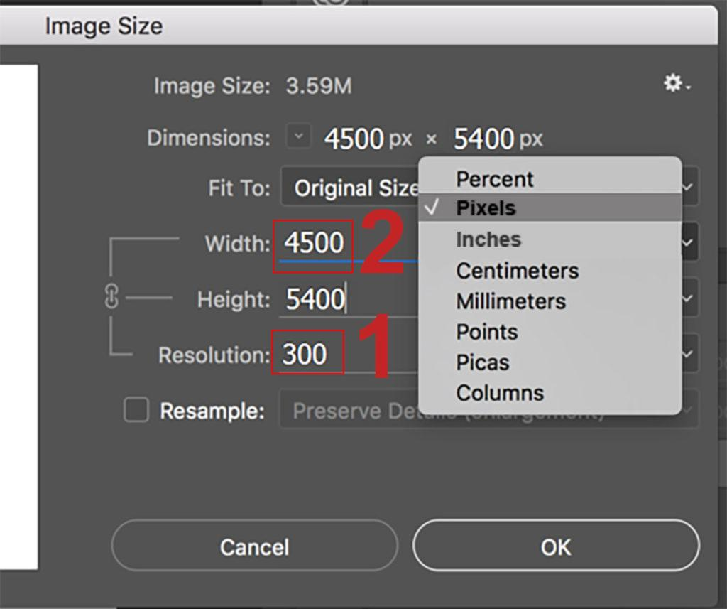 how to change image size in adobe photoshop